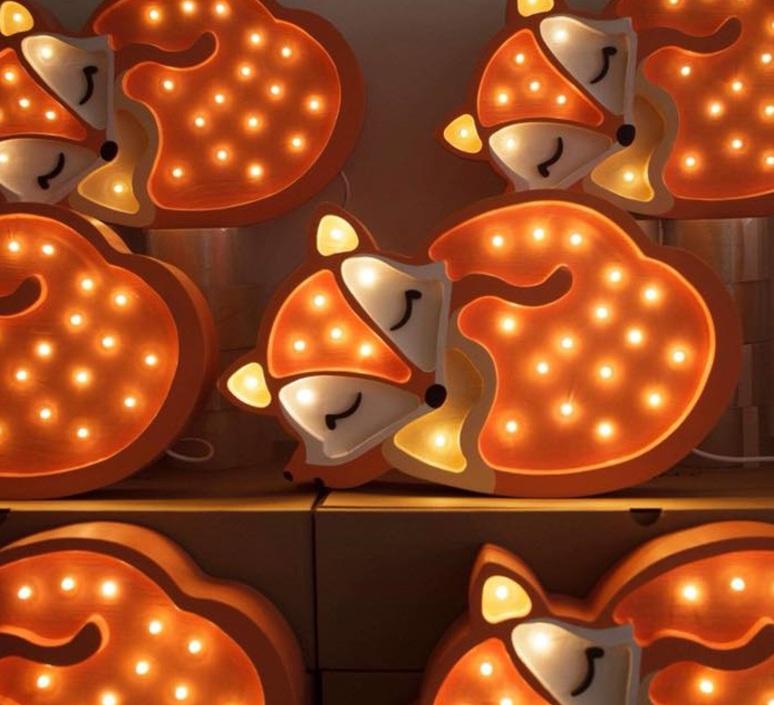 Fox studio little lights lampe a poser enfant kids table lamp  little lights fox wildorange  design signed nedgis 73340 product