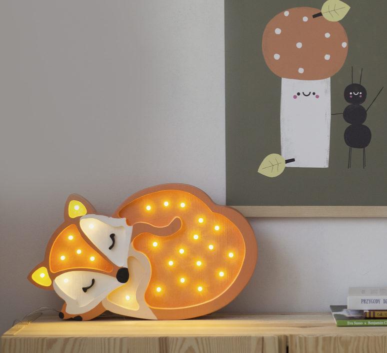 Fox studio little lights lampe a poser enfant kids table lamp  little lights fox wildorange  design signed nedgis 73342 product