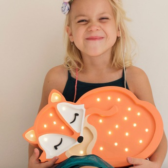 Lampe a poser enfant fox orange sauvage l31cm h19cm little lights normal