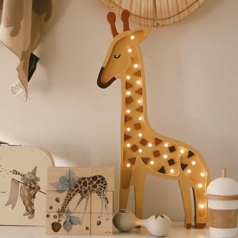 Lampe a poser enfant girafe jaune l24cm h51cm little lights normal