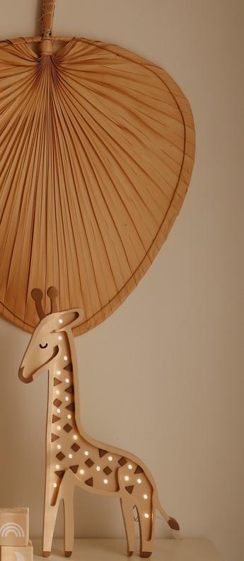 Lampe a poser enfant giraffe lamp savannah beige led k lm l46cm h28cm little lights normal
