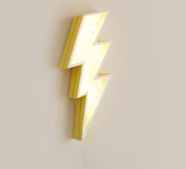 Lightning bolt studio little lights lampe a poser enfant kids table lamp  little lights lightningbolt yellow  design signed nedgis 73646 product
