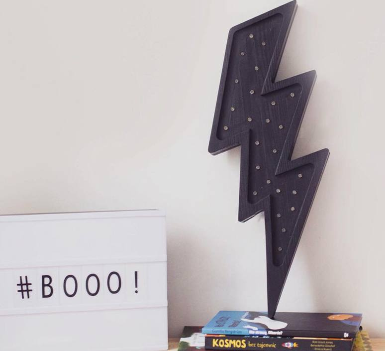 Lightning bolt studio little lights lampe a poser enfant kids table lamp  little lights lightningbolt black  design signed nedgis 73643 product