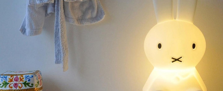 Lampe a poser enfant miffy my first light blanc led o15cm h30cm mr maria normal