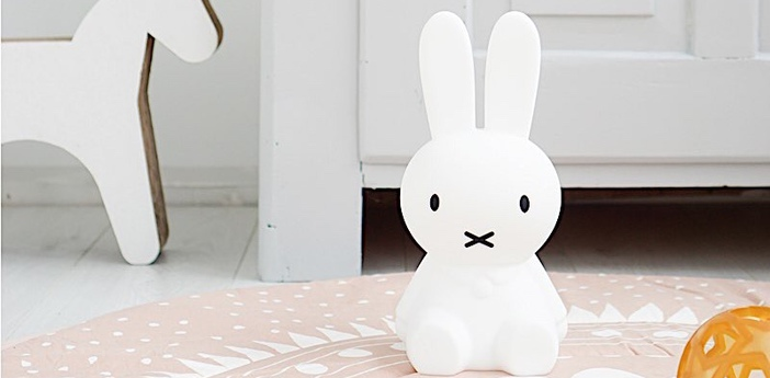 Lampe a poser enfant miffy my first light blanc led o15cm h30cm mr maria normal