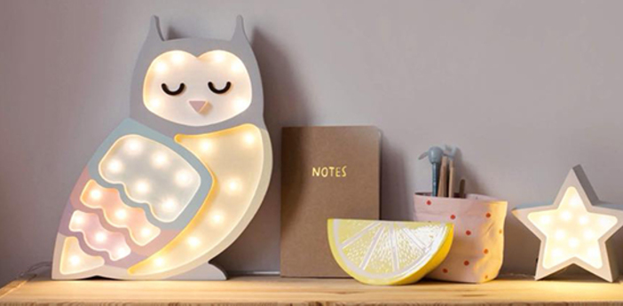 Lampe a poser enfant owl arc en ciel l40cm h25cm little lights normal