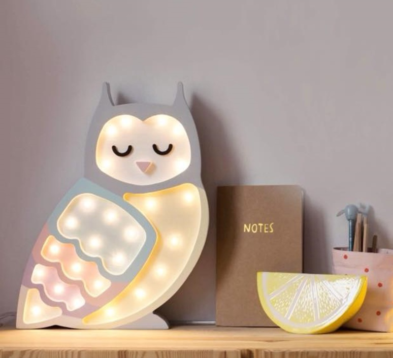 Owl studio little lights lampe a poser enfant kids table lamp  little lights owl rainbow  design signed nedgis 73350 product
