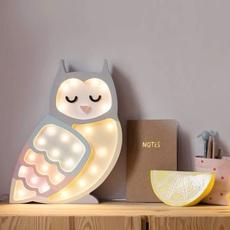 Owl studio little lights lampe a poser enfant kids table lamp  little lights owl rainbow  design signed nedgis 73350 thumb