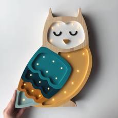 Owl studio little lights lampe a poser enfant kids table lamp  little lights owl mustard  design signed nedgis 73354 thumb