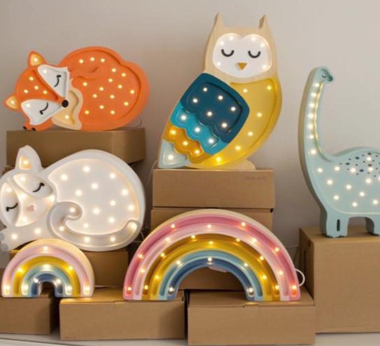 Owl studio little lights lampe a poser enfant kids table lamp  little lights owl mustard  design signed nedgis 73355 product