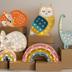 Owl studio little lights lampe a poser enfant kids table lamp  little lights owl mustard  design signed nedgis 73355 thumb