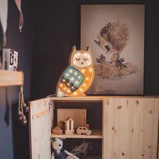 Owl studio little lights lampe a poser enfant kids table lamp  little lights owl mustard  design signed nedgis 73356 thumb