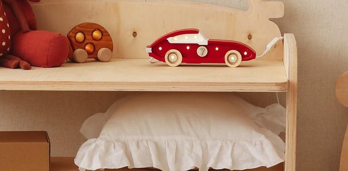 Lampe a poser enfant race car mini lamp frecciarossa led k lm l25cm h10cm little lights normal