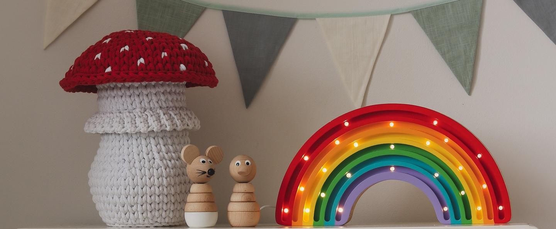 Lampe a poser enfant rainbow classique l37cm h20cm little lights normal