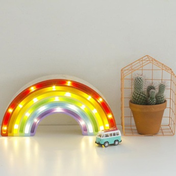 Lampe a poser enfant rainbow classique l37cm h20cm little lights normal