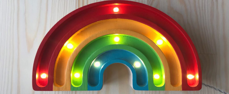 Lampe a poser enfant rainbow mini classique l20cm h12cm little lights normal