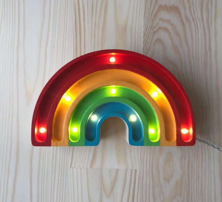 Rainbow mini studio little lights lampe a poser enfant kids table lamp  little lights rainbowmini classic  design signed nedgis 73543 product