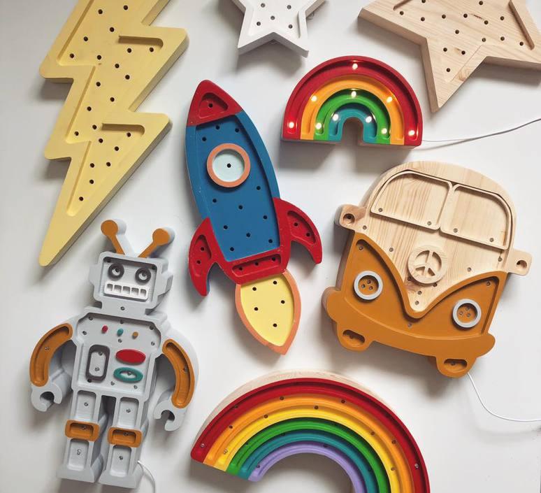 Rainbow mini studio little lights lampe a poser enfant kids table lamp  little lights rainbowmini classic  design signed nedgis 73545 product