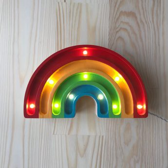 Lampe a poser enfant rainbow mini classique l20cm h12cm little lights normal