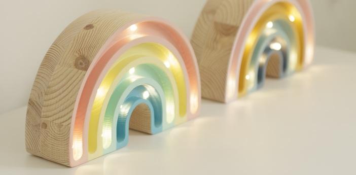 Lampe a poser enfant rainbow mini pastel l20cm h12cm little lights normal