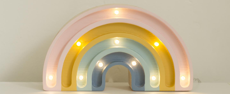 Lampe a poser enfant rainbow mini retro l20cm h12cm little lights normal