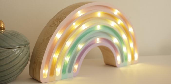 Lampe a poser enfant rainbow pastel l37cm h20cm little lights normal