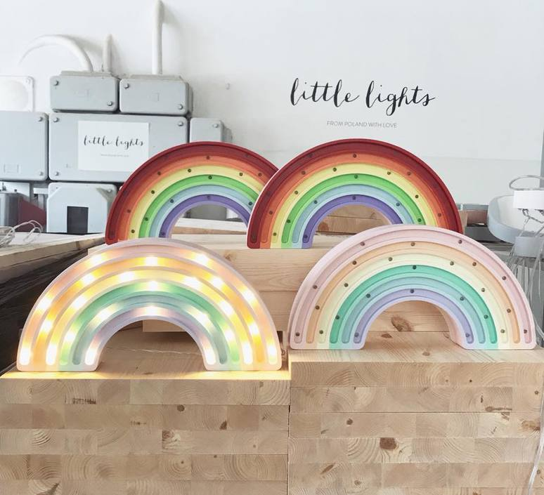 Rainbow studio little lights lampe a poser enfant kids table lamp  little lights rainbow pastel  design signed nedgis 73537 product