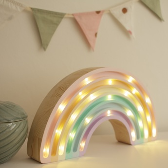Lampe a poser enfant rainbow pastel l37cm h20cm little lights normal