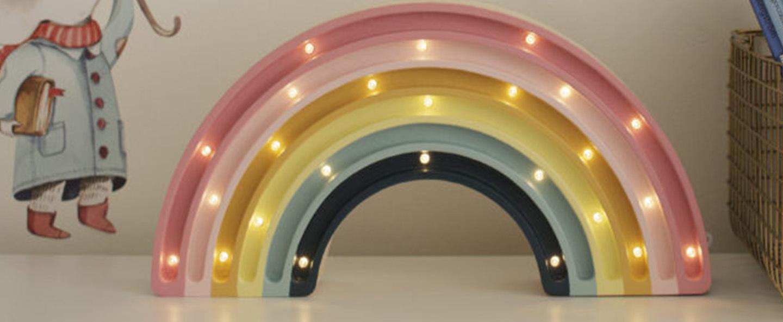Lampe a poser enfant rainbow retro l37cm h20cm little lights normal