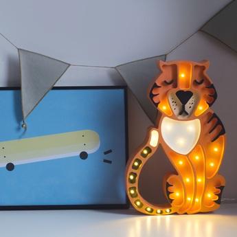 Lampe a poser enfant tiger orange l37cm h29cm little lights normal