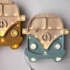 Van studio little lights lampe a poser enfant kids table lamp  little lights van retroblue wood  design signed nedgis 73685 thumb