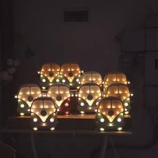 Van studio little lights lampe a poser enfant kids table lamp  little lights van retroblue wood  design signed nedgis 73688 thumb