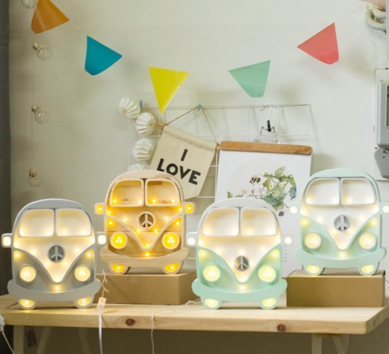Van studio little lights lampe a poser enfant kids table lamp  little lights van mint white  design signed nedgis 73667 product