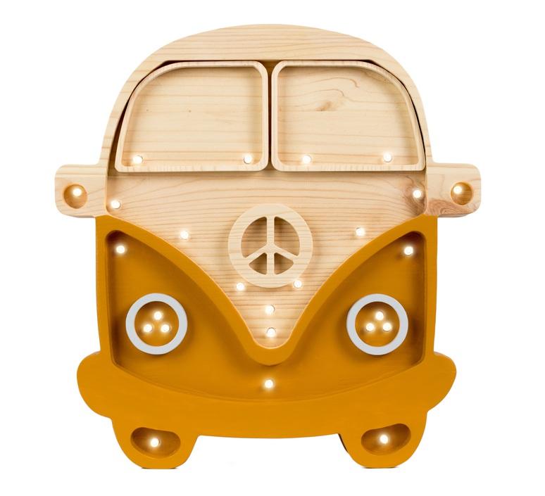 Van studio little lights lampe a poser enfant kids table lamp  little lights van mustard wood  design signed nedgis 73692 product
