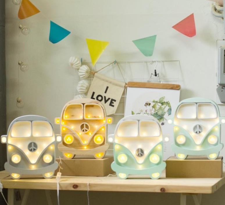 Van studio little lights lampe a poser enfant kids table lamp  little lights van mustard wood  design signed nedgis 73693 product