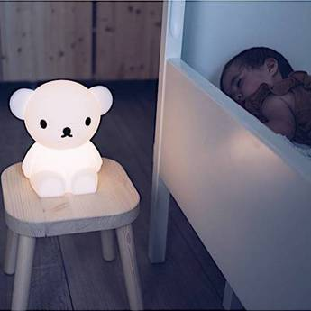 Lampe a poser enfant veilleuse first light boris blanc led 2700k 100lm l20cm h21cm mr maria normal