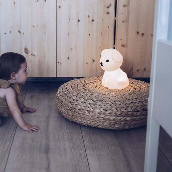 Lampe a poser enfant veilleuse first light snuffy blanc led 2700k 100lm l16cm h23cm mr maria normal
