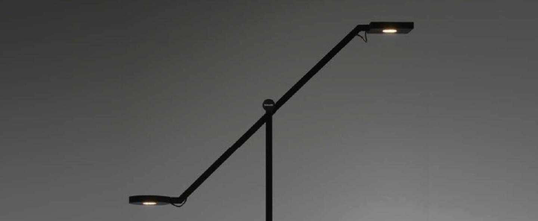 Lampe a poser equilibrist noir led h63cm l85cm artemide normal