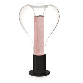 Lampe a poser eris m noir rose pale o22cm h40cm lzf normal