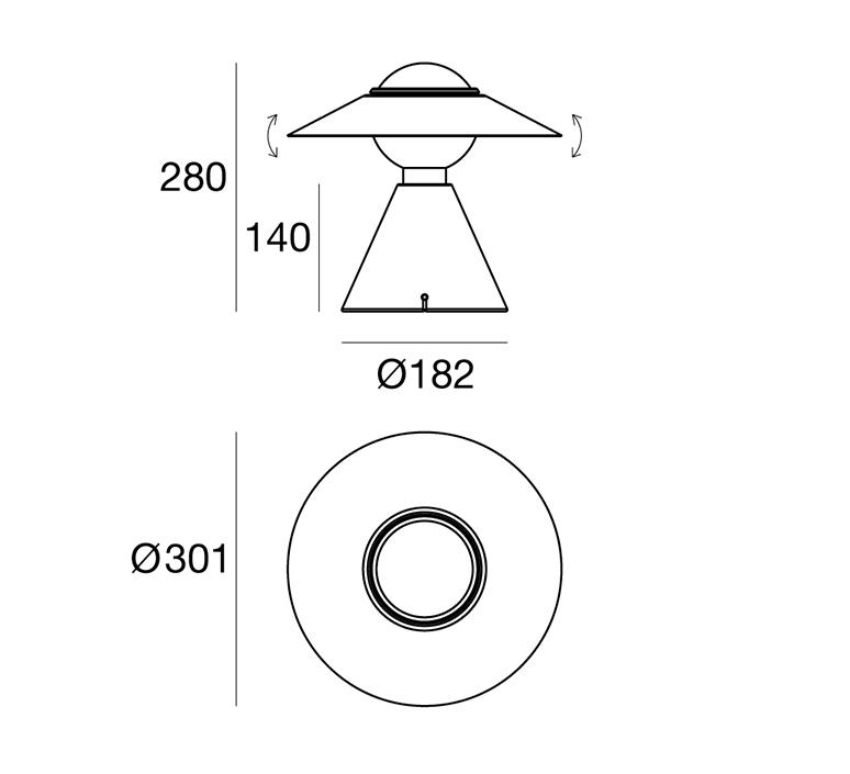 Fante studio de pas d urbino lomazzi lampe a poser table lamp  stilnovo 8966  design signed nedgis 119097 product