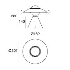 Fante studio de pas d urbino lomazzi lampe a poser table lamp  stilnovo 8966  design signed nedgis 119097 thumb