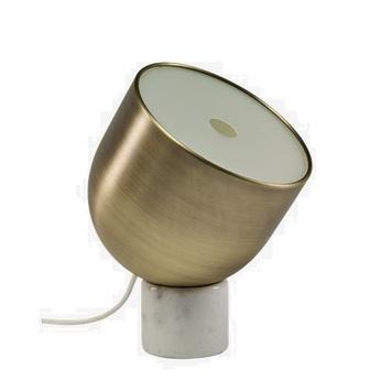 Lampe a poser faro laiton marbre blanc mat o22cm h32cm bolia normal