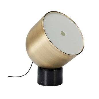 Lampe a poser faro laiton marbre noir o22cm h32cm bolia normal