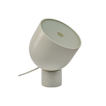 Lampe a poser faro marbre blanc o22cm h32cm bolia normal