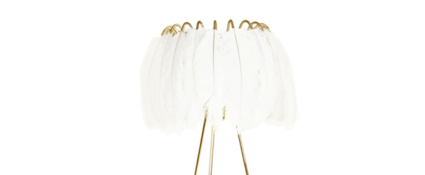 Lampe a poser feather blanc o50cm h50cm mineheart normal