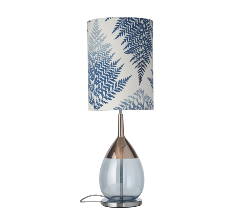 Fern leaves graphic  lampe a poser table lamp  ebb and flow ba101009 sh101060  design signed 39639 product