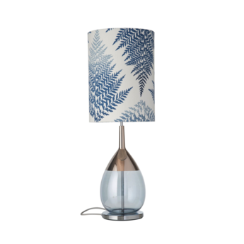 Lampe a poser fern leaves graphic bleu o30cm h92cm ebb and flow normal