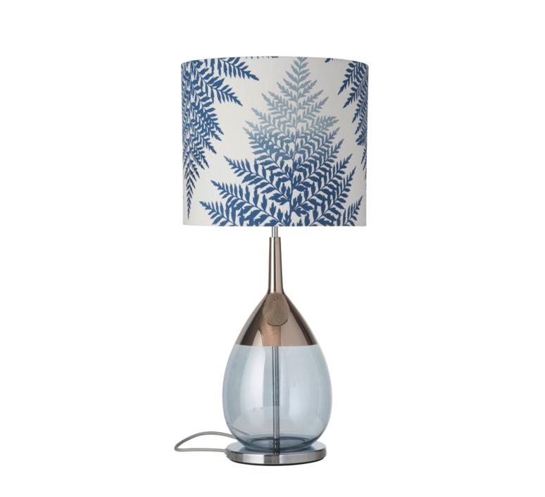 Fern leaves graphic  lampe a poser table lamp  ebb and flow ba101009 sh101017  design signed 39638 product