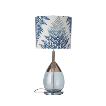 Lampe a poser fern leaves graphic bleu o35cm h82cm ebb and flow normal