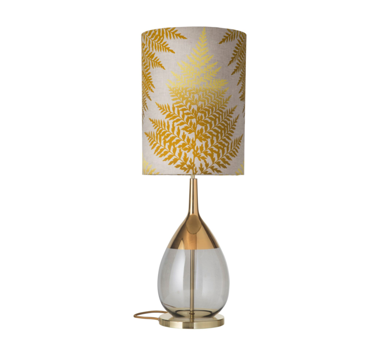 Fern leaves graphic  lampe a poser table lamp  ebb and flow ba101015 sh101046  design signed 39641 product